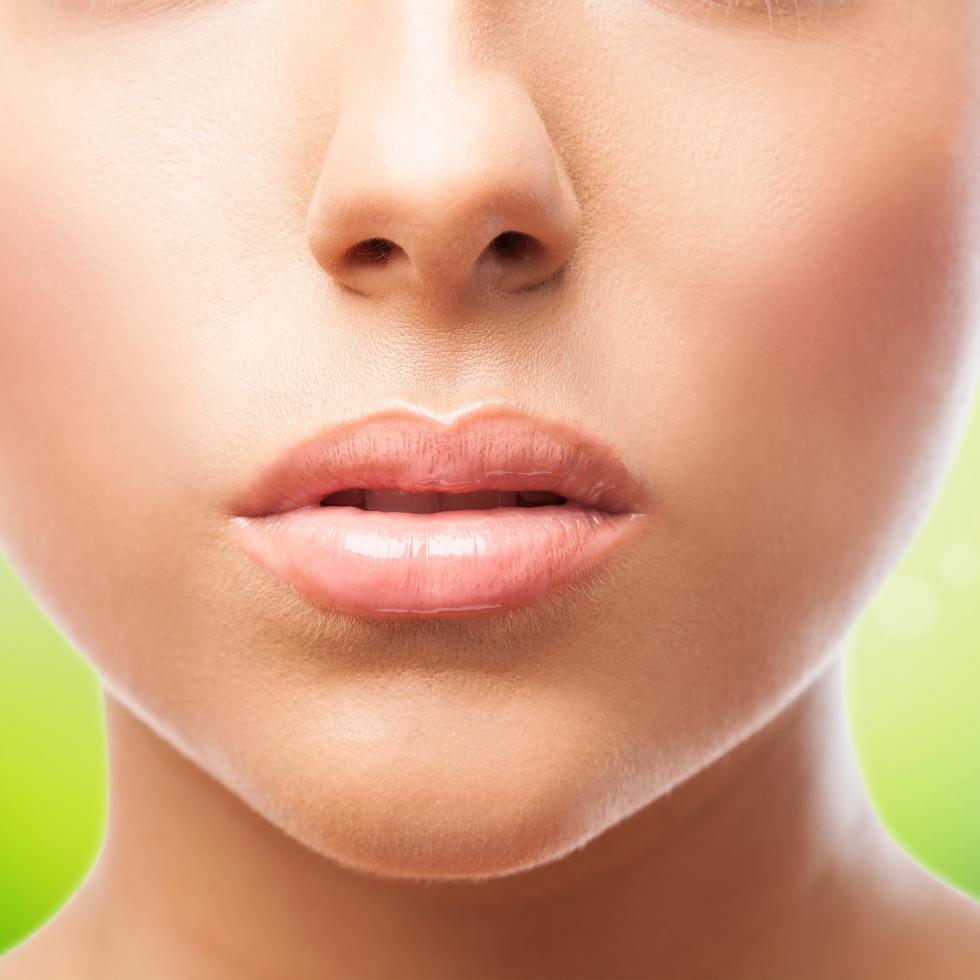 Closeup shot of a woman's lips.